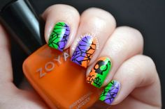 Bright & Colourful Halloween Mani - Bundle Monster Nail Art Contest Inspired - Nails by Kayla Shevonne