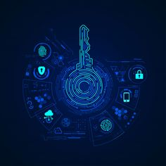 concept of cyber security or private key abstract digital key with technology interface Futuristic Technology, Technology Design, Security Technology, Free Vector Art, Free Vector Images, Microsoft, Security Token, Technology Wallpaper, Creative Brochure