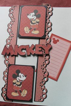 Classic Disney paper pack from CM with title cut from Mickey and Friends Cricut cartridge