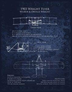 1903 Wright Flyer Blueprints - 8 x 10 digital art print