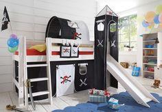 Abenteuerbett im Kinderzimmer -Piratenburg gestalten