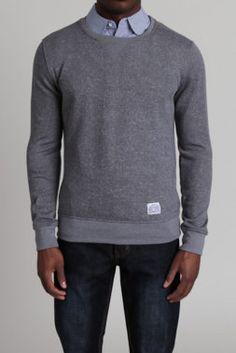 Heather Grey Crewneck Sweatshirt - Vive - Sweatshirts : JackThreads