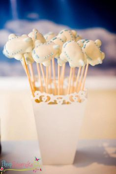 CUTE airplane cake pops! Airplane themed party via Kara's Party Ideas karaspartyideas.com