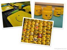 Van lege potjes LEGO hoofdjes maken