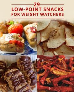 29-Low Point Snacks for Weight Watchers. Make ahead and keep these on hand for health snacks for everyone in the house!! #weightwatchers #lowcalories