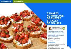 Canapés au fromage de chèvre et salsa de fraises - La Presse+