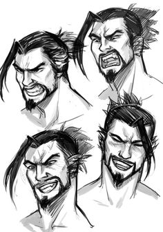 Draw Facial Expression having a little too much fun drawing the grumpy ninja - Overwatch Hanzo, Overwatch Fan Art, Draw Tips, Genji And Hanzo, Hanzo Shimada, Guy Drawing, Gesture Drawing, Arte Cyberpunk, Face Expressions
