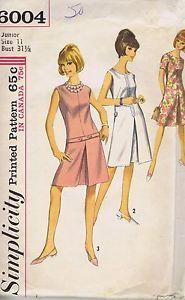 "One Piece Dress Sewing Pattern Simplicity 6004 Size 11 Bust 31 5 Hip 33 5"" Cut   eBay"