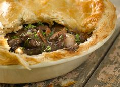 Find out how to make beef, wild mushroom and red wine pie with this recipe - made with Jus-Rol's all butter puff pastry, best served with creamy mash.