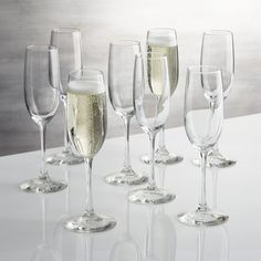 Boxed Champagne Flutes Set of 8 Crate and Barrel