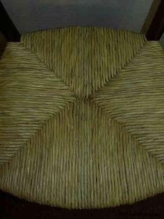 instructions on how to reweave a rush chair seat