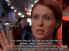 You tell your friends how you feel about them. | 18 Signs You Actually Might Be Miranda Hobbes