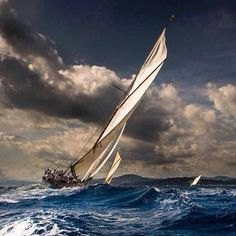 Sailing in the storm by... S.Liga.