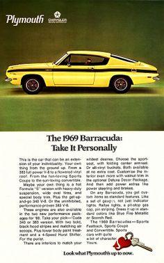 Plymouth Barracuda Sports Fastback - adv (1969)