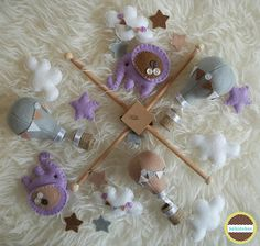 baby mobile elephant baby mobile hot air balloon baby