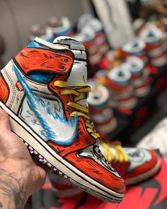 reputable site 6373a 3a700 fire ass jordan one customs Custom Jordans, Custom Sneakers, Custom Shoes,  Presto Sneakers