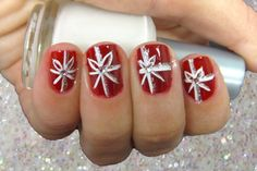 Sexy Red Nail Designs: Awesome Holiday Red Flower Nail Design ~ fixstik.com Nail Colors Inspiration