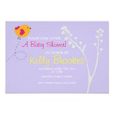 Baby Shower Invite | Loves Bird |lv