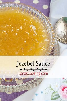 Jezebel Sauce Jezebel Sauce is a sweet and spicy accompaniment for meats and vegetables. Also makes a great hors d'oeuvre with cream cheese and crackers. From Lana Stuart Sauce Recipes, Cooking Recipes, Jam Recipes, Jezebel Sauce, Lime Cake, Spice Mixes, Sweet And Spicy, Clean Eating Snacks, Cookies Et Biscuits