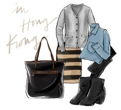 Fashion Illustration - What I Wore in HK