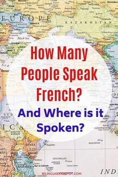 There are numerous French speaking countries in Africa, Europe, and beyond. Reaching across the world, the French language has around 270 million speakers! Learn French Free, Learn French Beginner, Learn To Speak French, French For Beginners, Language Study, Learn A New Language, French Language, French Phrases, French Words