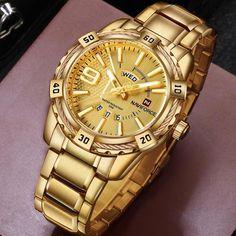39cce16d5d6 Sport Center  Big Discount NAVIFORCE Luxury Brand Mens Sport Watch Gold  Full Steel Quartz Watches Men Date Waterproof Military Clock Man relogio  masculino