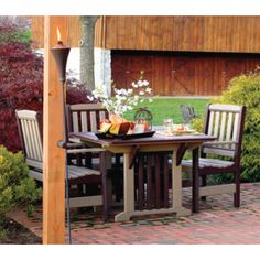 Amish Poly Wood Patio Furniture Dining Set