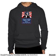 Donald Trump for President 2016 Hoodie Black