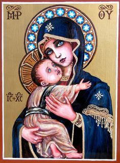 + Theotokos of Vladimir + by Theophilia on DeviantArt