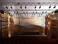 l'opera palette, pallet opera, jacques plante, quebec city, opera theater, shipping pallets, green architecture