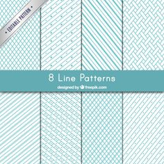 Variety of lines patterns Free Vector