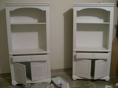 How to paint particle board furniture (Yeah, that cheap stuff) This is one of the more simple straightforward methods I've seen. I'll be using this for sure