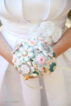 Un bouquet très couture | la fabrique à mariage