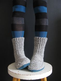 I'm adding these knitted boot slippers to my knitting list. These are perfect for Christmas gifting: Nola Slippers Free Knitting Pattern Knitted Slippers, Crochet Slippers, Knit Or Crochet, Slipper Socks, Knit Slippers Pattern, Knitted Booties, Cardigan Pattern, Knitting Patterns Free, Knit Patterns
