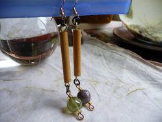 Sweet #handmadejewelry #dangles #earringaddiction #bambooearrings #primitivejewelry #bohostyle #etsy #etsyfinds #etsyseller #cherokeedancing by cherokeedancing. Explore more products on http://cherokeedancing.etsy.com