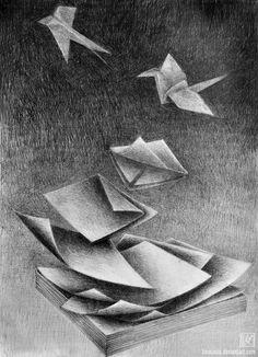 transformation by karojasia on DeviantArt Drawing Projects, Drawing Lessons, Art Projects, Drawing Ideas, Cool Drawings, Pencil Drawings, Metamorphosis Art, High School Drawing, Watercolour Tutorials
