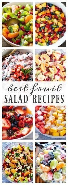 Best Fruit Salad Recipes – A Dash of Sanity - Obst Best Fruit Salad, Fruit Salad Recipes, Fruit Salad Ideas Parties, Ambrosia Fruit Salads, Fruit Deserts Recipes, Side Salad Recipes, Fruit Ideas, Fruit Fruit, Vegetarian Recipes