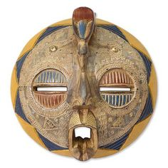 Africa wood mask, 'Adeiso Legacy' by NOVICA