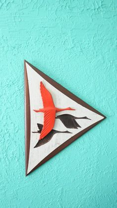 Mid Century Modern Burwood Geese in Flight by AdoredAnew on Etsy