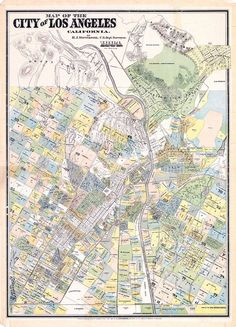 Los Angeles Real-Estate #map in 1884.  #LA #LosAngeles -- http://www.bigmapblog.com/2012/stevensons-survey-of-los-angeles-1884/