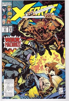X-Force #21 April 1993 Marvel Comic Book War Machines
