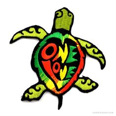 One Love Turtle Patch