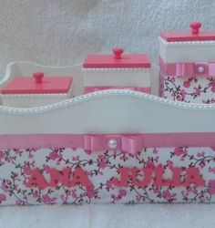 kit higiene bebê - outros sem marca Kit Bebe, Decoupage, Toddler Bed, Craft Projects, Alice, Diy Crafts, Box, Hearts, Home Decor