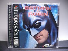 Batman & Robin (Sony PlayStation for sale online Ps Vita Games, Play 1, Batman Robin, Psp, Dark Knight, Tracking Number, Playstation, Manual, Video Games