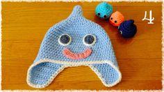 スライム帽子の編み方(4)目と口を縫います diy slime hat