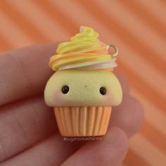 #kawaii #charms #polymer #clay #candy #corn #cupcake #charm
