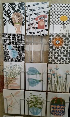 Neu bei uns im Warenhaus des Handgemachten: Bergith Lassen aus Hamburg mit tollen Postkarten