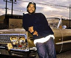 Ice Cube hitting switches on the drop top. www.mymainmanpat.com #IceCube #NWA #Cadillac #HittinSwitches