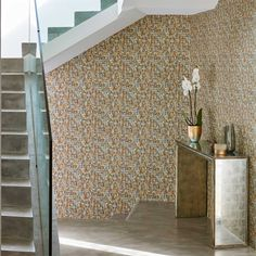 Kelambu wallpaper is a pebbled, layered, water-colour effect design on a textured embossed, vinyl ground. Harlequin Wallpaper, Silk Wallpaper, Interior Wallpaper, Wallpaper Samples, Decorating Your Home, Interior Decorating, Buy Wallpaper Online, Color Effect