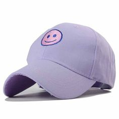 5.17 Stylish Smile Face Embroidery Solid Color Baseball Hat For Women  Really Cute Outfits b7bf1127501b